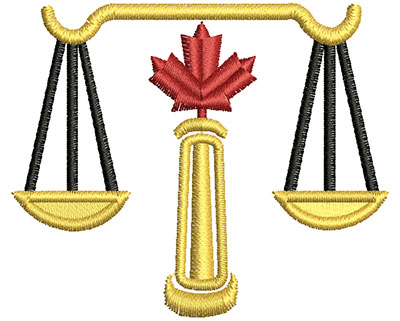 Embroidery Design: Canadian Weighted Scale 2.50w X 2.09h