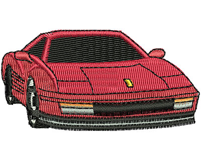 Embroidery Design: Sports Car 2.31w X 1.19h