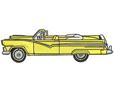 Embroidery Design: Vintage Car 3.84w X 1.14h