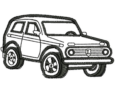 Embroidery Design: Jeep Outline 2.78w X 1.57h