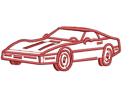 Embroidery Design: Sports Car Outline 3.56w X 1.32h