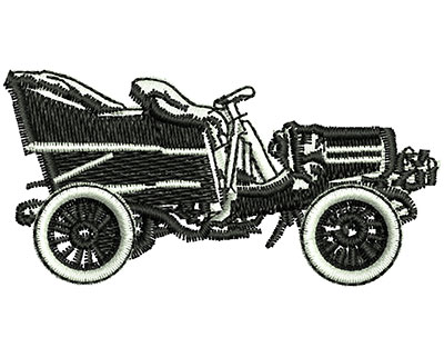 Embroidery Design: Vintage Convertible Car 2.59w X 1.28h