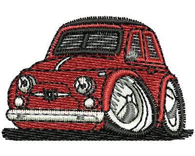 Embroidery Design: Car Cartoon 1.57w X 1.02h