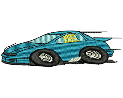 Embroidery Design: Fast Car 3.32w X 1.01h