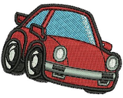 Embroidery Design: Cartoon Car 2.02w X 1.53h