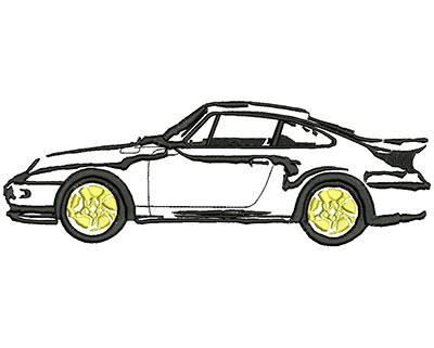 Embroidery Design: Sports Car 9.10w X 3.10h