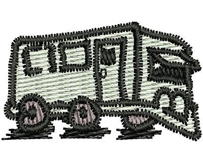 Embroidery Design: Cartoon Trailer 1.29w X 0.77h