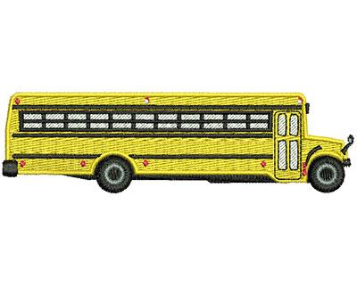 Embroidery Design: School Bus 4.48w X 1.29h