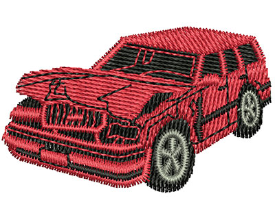Embroidery Design: Wrecked Car 1.87w X 1.16h