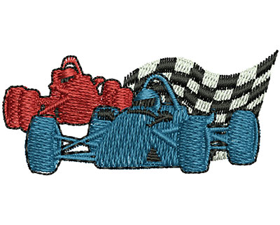 Embroidery Design: Race Cars 1.99w X 0.90h