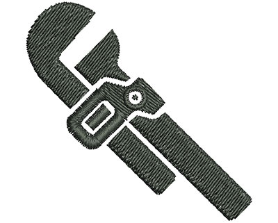 Embroidery Design: Adjustable Wrench 2.19w X 2.13h