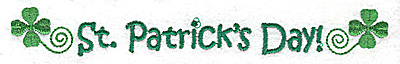 Embroidery Design: St. Patrick's Day large 6.91w X 0.89h