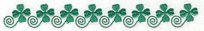 Embroidery Design: Row of shamrocks eight 6.69w X 0.81h