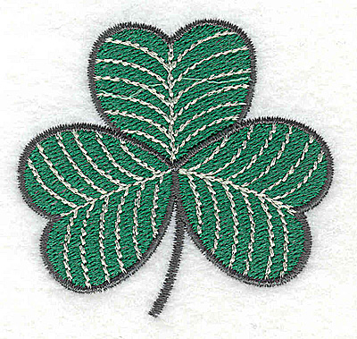 Embroidery Design: Shamrock 2.46w X 2.31h