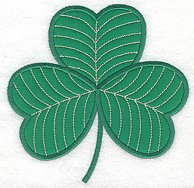 Embroidery Design: Shamrock large applique 4.95w X 4.86h