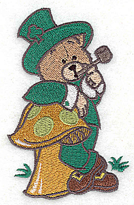 Embroidery Design: St. Patrick's bear small 2.44w X 3.88h