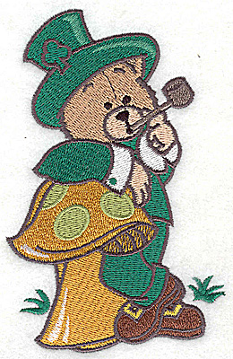Embroidery Design: St. Patrick's bear large 3.13w X 4.98h