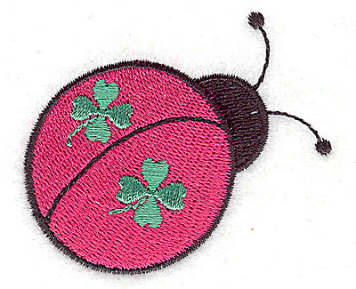 Embroidery Design: St. Patrick's ladybug small 2.56w X 2.15h