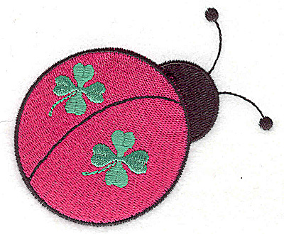 Embroidery Design: St. Patrick's ladybug large 3.52w X 2.94h
