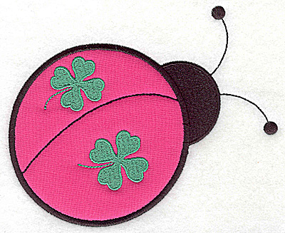 Embroidery Design: St. Patrick's ladybug applique 5.93w X 4.92h