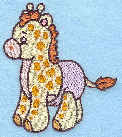Embroidery Design: Baby Giraffe 3.39w X 3.89h