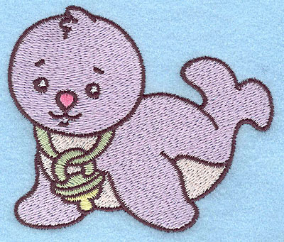 Embroidery Design: Baby Seal 3.48w X 2.99h