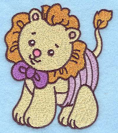 Embroidery Design: Baby Lion  3.18w X 3.69h