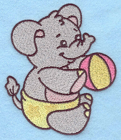 Embroidery Design: Baby Elephant<br> 3.26w X 3.84h