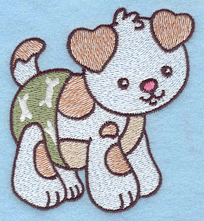 Embroidery Design: Baby Puppy 3.08w X 3.53h
