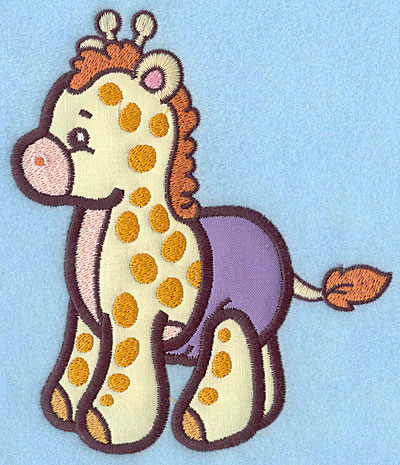 Embroidery Design: Baby Giraffe applique 5.81w X 4.97h