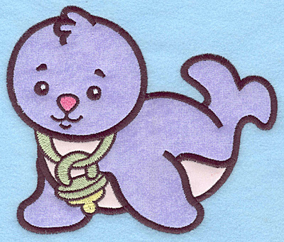 Embroidery Design: Baby Seal applique 5.78w X 5.00h