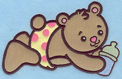 Embroidery Design: Baby Bear applique 6.52w X 4.17h
