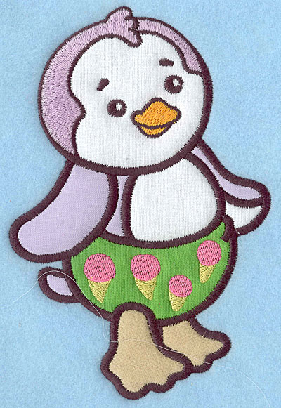 Embroidery Design: Baby Penguin applique 6.69w X 4.44h