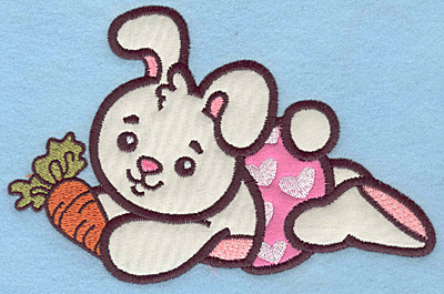 Embroidery Design: Baby Bunny applique 6.59w X 4.30h