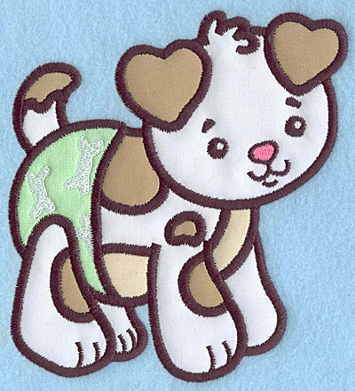 Embroidery Design: Baby Puppy applique 5.68w X 4.97h