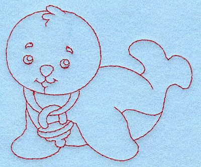 Embroidery Design: Baby Seal redwork3.85w X 3.29h