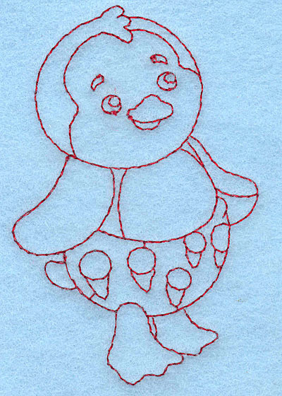 Embroidery Design: Baby Penguin redwork 2.50w X 3.88h