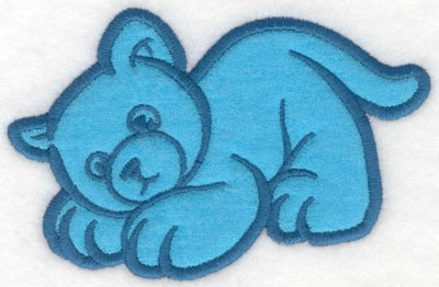Embroidery Design: Crouching kitty applique5.00w X 3.25h