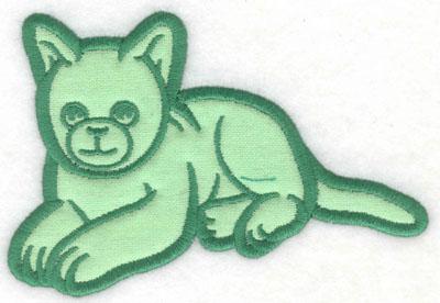 Embroidery Design: Kitten applique5.00w X 3.40h