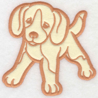 Embroidery Design: Puppy applique5.00w X 4.99h