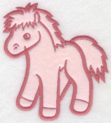 Embroidery Design: Pony applique L4.47w X 5.00h