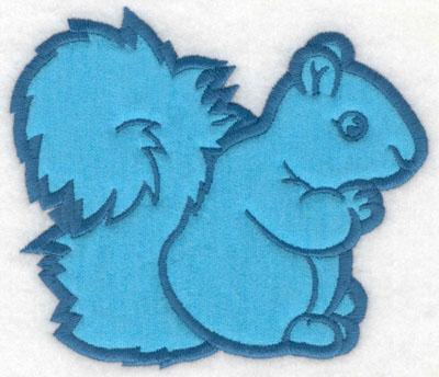 Embroidery Design: Squirrel applique5.00w X 4.33h