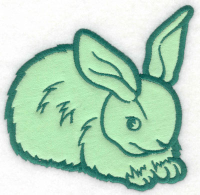 Embroidery Design: Bunny applique4.90w X 5.00h