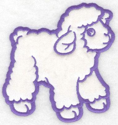 Embroidery Design: Lamb applique4.61w X 5.00h
