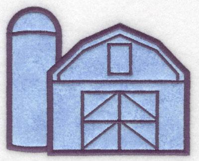 Embroidery Design: Barn with silo applique5.00w X 4.07h