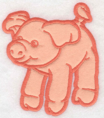 Embroidery Design: Piglet applique 4.28w X 5.00h