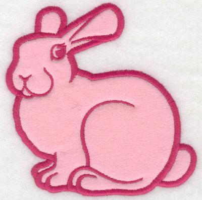 Embroidery Design: Rabbit applique5.00w X 4.96h