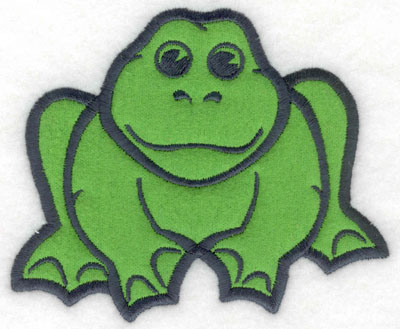 Embroidery Design: Frog applique5.00w X 4.13h