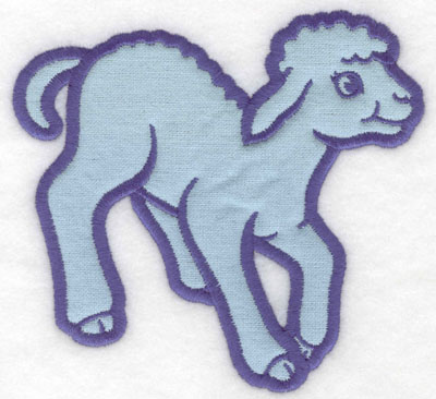 Embroidery Design: Frolicking lamb applique5.00w X 4.65h