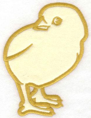 Embroidery Design: Chick applique3.60w X 5.00h
